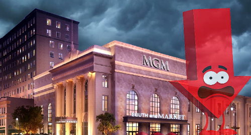 MGM's Massachusetts casino revenue falls for second month