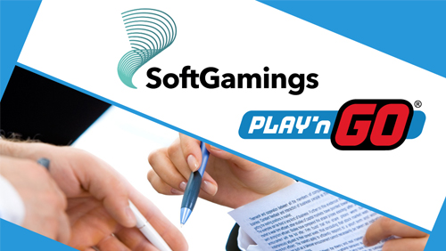 Play'n GO signs up Softgamings to offer its full portfolio of games