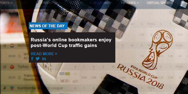 Russia's online bookmakers enjoy post-World Cup traffic gains