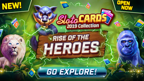 The #1 Social Casino Game Slotomania - to Boost Gameplay with New Sloto Card Heroes Collection