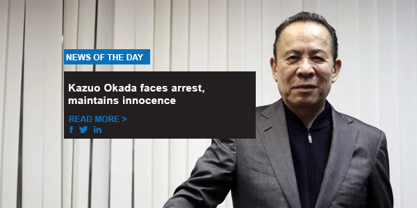 Kazuo Okada faces arrest, maintains innocence