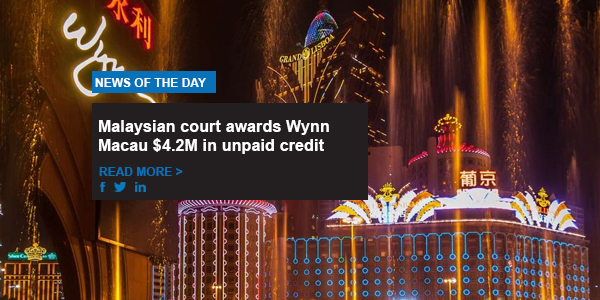 Malaysian court awards Wynn Macau $4.2M in unpaid credit