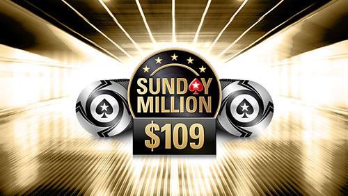 PokerStars reduces Sunday Million buy-in to $109; tonkaaaa chop