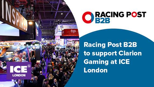 Racing Post B2B to support Clarion Gaming at ICE London once again