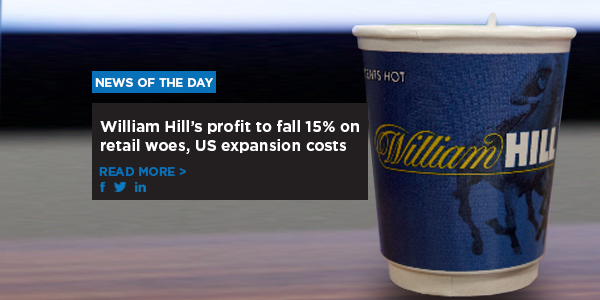 William Hill's profit to fall 15% on retail woes, US expansion costs