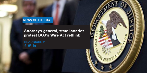 Attorneys-general, state lotteries protest DOJ's Wire Act rethink