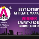 Income Access' Samantha Ross wins 'Best Lottery Affiliate Manager' iGB Affiliate Award