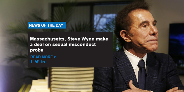Massachusetts, Steve Wynn make a deal on sexual misconduct investigation