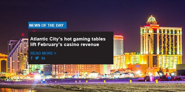 Atlantic City's hot gaming tables lift February's casino revenue