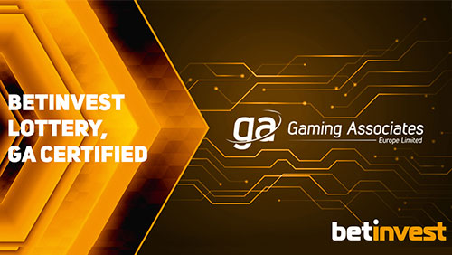Betinvest Lottery certified by Gaming Associates Europe Ltd