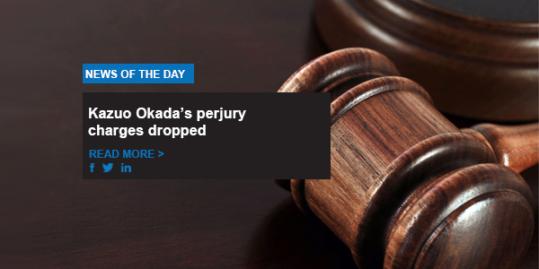 Kazuo Okada's perjury charges dropped