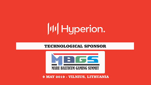 Hyperion Tech announced as technological sponsor at MARE BALTICUM Gaming Summit 2019