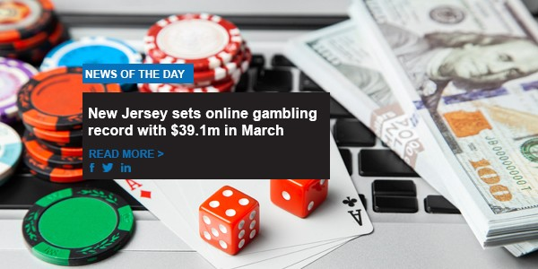 New Jersey sets online gambling record with $39.1m in March