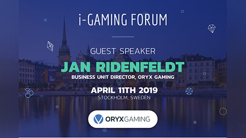 ORYX confirmed to speak at the 11th i-Gaming Forum, Stockholm on 11th April 2019