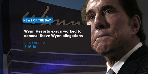 Wynn Resorts execs worked to conceal Steve Wynn allegations