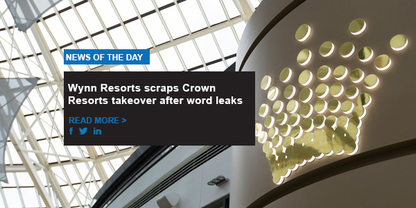 Wynn Resorts scraps Crown Resorts takeover after word leaks
