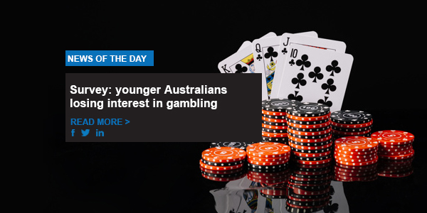 Survey: younger Australians losing interest in gambling