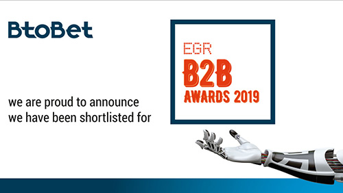 BtoBet finalist in four different categories of prestigious EGR B2B Awards