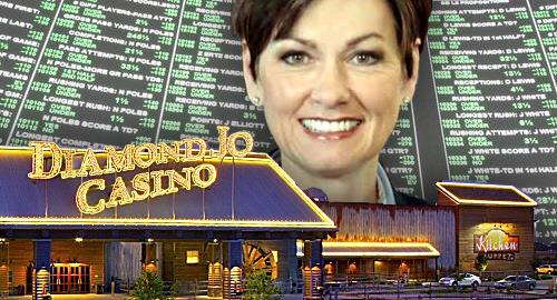 Iowa guv Kim Reynolds signs sports betting legislation