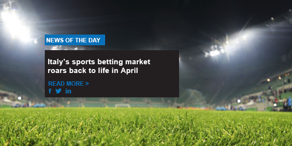 Italy's sports betting market roars back to life in April