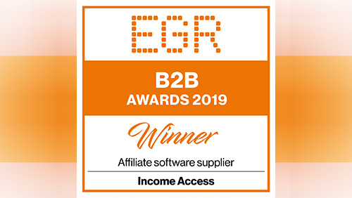 Income Access wins 2019 'Affiliate Software Supplier' EGR B2B Award
