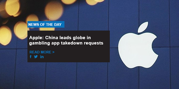 Apple: China leads globe in gambling app takedown requests