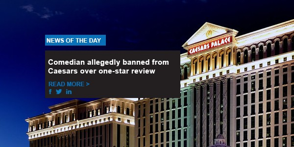 Comedian allegedly banned from Caesars over one-star review