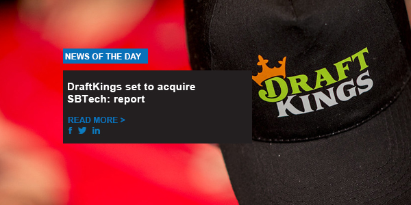 DraftKings set to acquire SBTech
