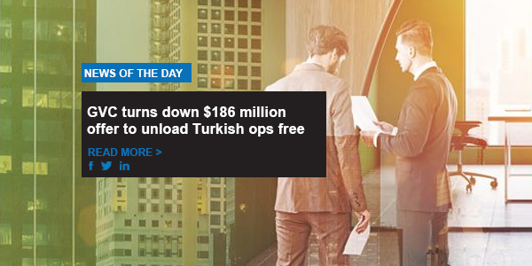 GVC turns down $186 million offer to unload Turkish ops free