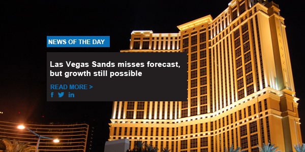 Las Vegas Sands misses forecast, but growth still possible