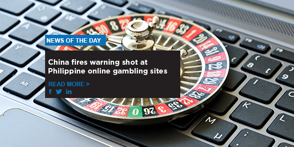 China fires warning shot at Philippine online gambling sites