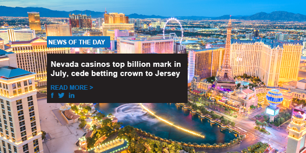 Nevada casinos top billion mark in July, cede betting crown to Jersey