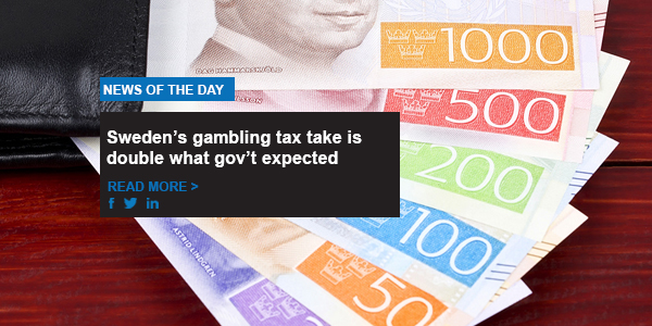 Sweden's gambling tax take is double what gov't expected
