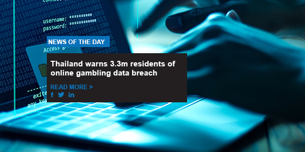 Thailand warns 3.3m residents of online gambling data breach