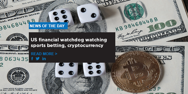 US financial watchdog watching sports betting, cryptocurrency
