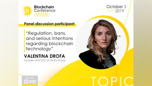 Valentina Drofa, Blockchain Project PR Specialist, to participate in blockchain regulation panel discussion