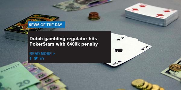 Dutch gambling regulator hits PokerStars with €400k penalty