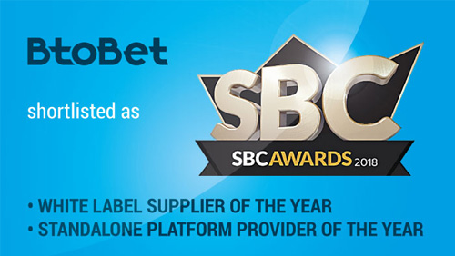 BtoBet shortlisted in 2 categories for prestigious SBC Awards