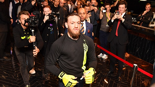 Conor McGregor discusses fight plans at Parimatch event