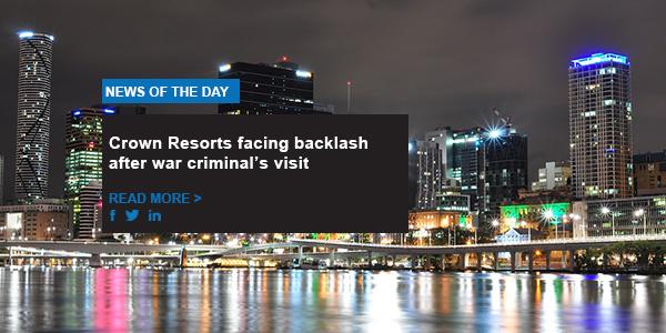 Crown Resorts facing backlash after war criminal's visit