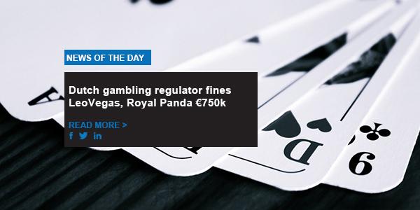 Dutch gambling regulator fines LeoVegas, Royal Panda €750k
