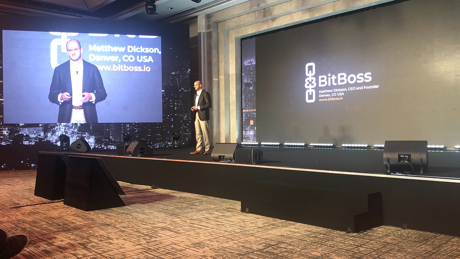 Matt Dickson talks blockchain gambling technology at CoinGeek Seoul