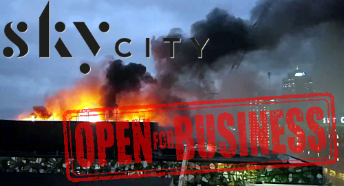 Skycity Auckland Casino Hotels Back In Business After Fire