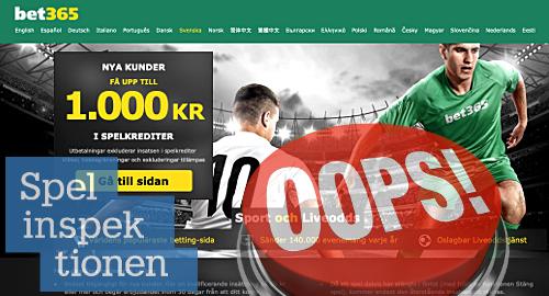 sweden-gambling-regulator-clears-bet365-underage-betting