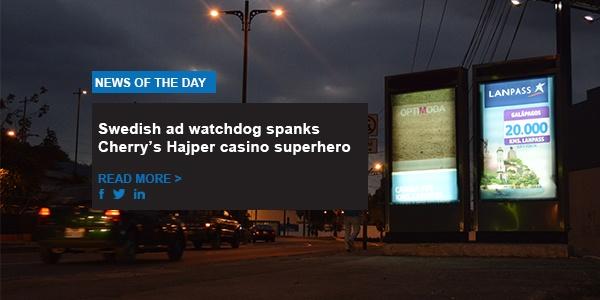 Swedish ad watchdog spanks Cherry's Hajper casino superhero