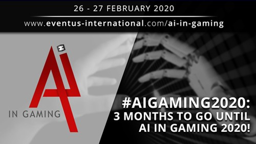 Three months to go until AI in Gaming 2020 Dubai