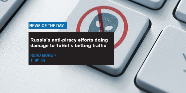 Russia's anti-piracy efforts doing damage to 1xBet's betting traffic