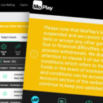 Moplay warns customers that deposited funds may be gone