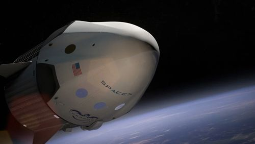 SpaceX-shuttle-successfully-docks-at-the-International-Space-Station