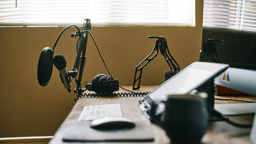 podcast mic set up